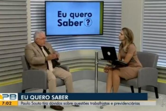 Paulo Souto no 'Bom Dia Paraíba'