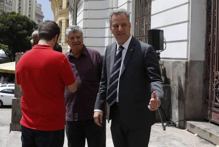 Presidente do Flamengo Rodolfo Landim